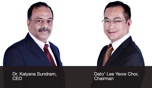 Tan Sri Datuk Dr Yusof Basiron,CEO & Dato' Lee Yeow Chor, Chairman