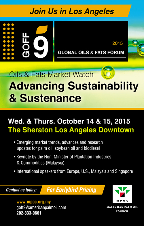 9th Global Oils and Fats Forum USA 2015