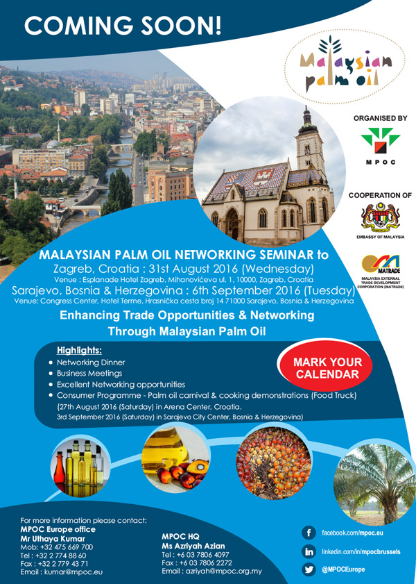 Malaysian Palm Oil Trade Mission and Networking Seminar to Croatia