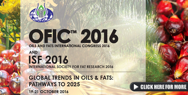 Oils and Fats International Congress 2016 (OFIC) and ISF 2016