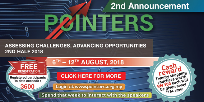 Palm Oil Internet Seminar (POINTERS) 6th – 12th August 2018