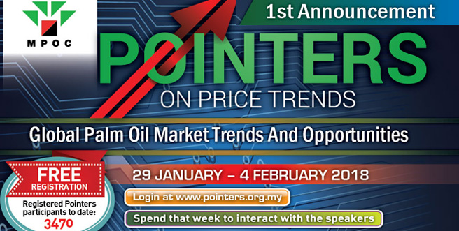 Palm Oil Internet Seminar (POINTERS) 29 January – 4 February 2018