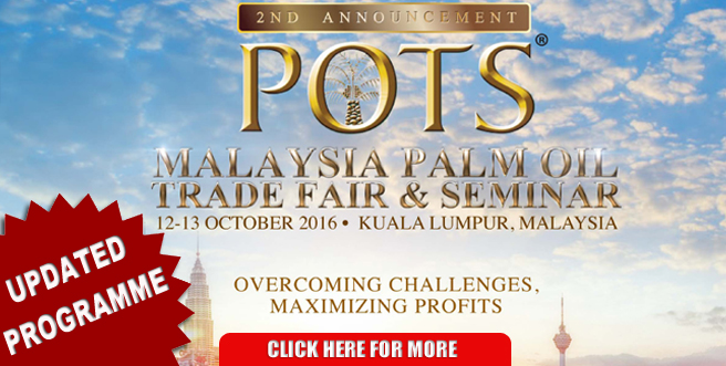 Palm Oil Trade Fair and Seminar (POTS) Kuala Lumpur 2016