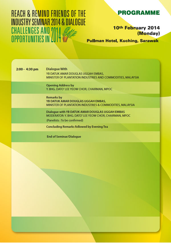 Reach and Remind Friends of the Industry Seminar 2014 and Dialogue