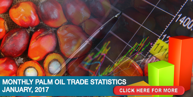 Monthly Palm Oil Trade Statistics – January, 2017
