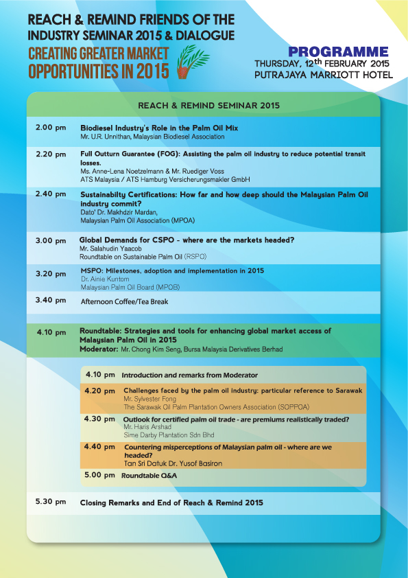 Reach and Remind Friends of the Industry Seminar 2015 and Dialogue