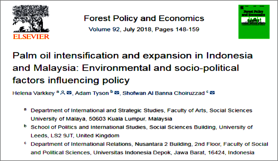 Palm Oil Intensification And Expansion In Indonesia And Malaysia